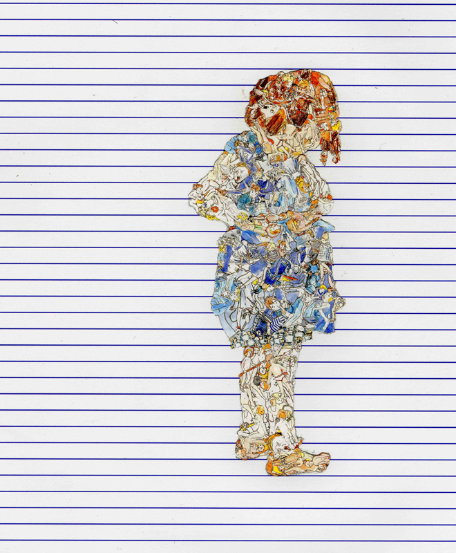 Untitled #3 [Blue Dress Girl] [Detail] Jonathan Kelham